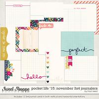 Pocket Life '15: November 3x4 Journalers by Traci Reed