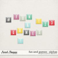 Fun And Games | Alphas by Digital Scrapbook Ingredients