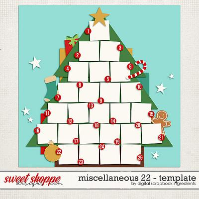 Miscellaneous 22 Template by Digital Scrapbook Ingredients