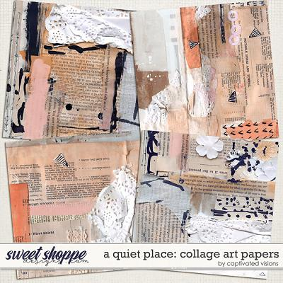 A Quiet Place: Collage Art Papers by Captivated Visions