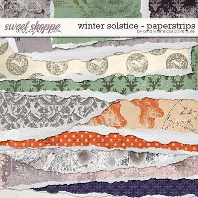 Winter Solstice Torn Paperstrips by On A Whimsical Adventure