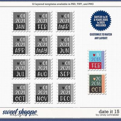 Cindy's Layered Templates - Date It 15 by Cindy Schneider