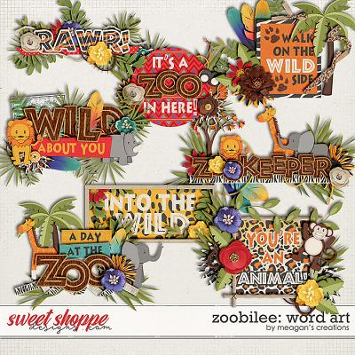 Zoobilee: Word Art By Meagan's Creations