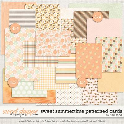 Sweet Summertime Patterned Cards by Traci Reed