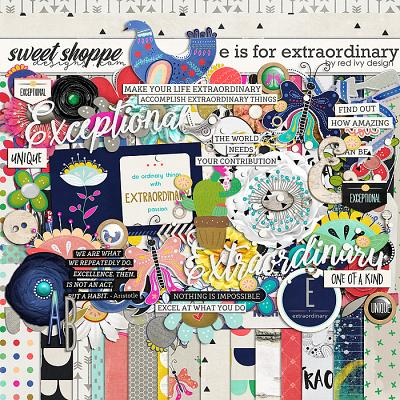 E is for Extraordinary by Red Ivy Design