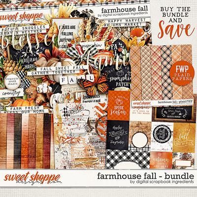 Farmhouse Fall Bundle & *FWP* by Digital Scrapbook Ingredients