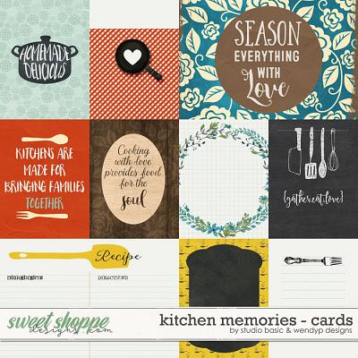 Kitchen Memories Cards by Studio Basic and WendyP Designs