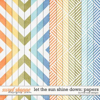 Let the Sun Shine Down: Papers by River Rose Designs