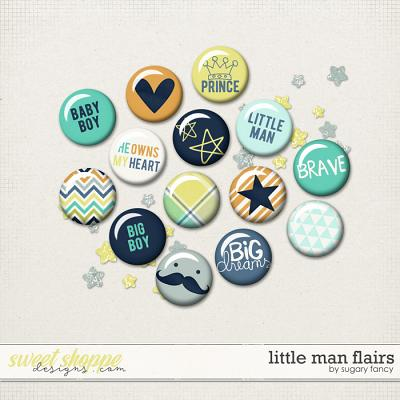 Little Man Flairs by Sugary Fancy