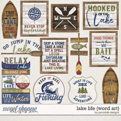 Lake Life Word Art by Ponytails