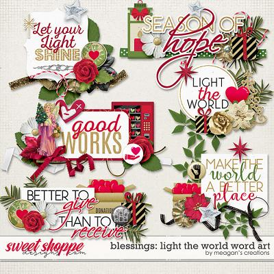 Blessings: Light the World Word Art by Meagan's Creations