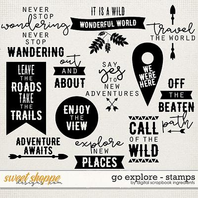 Go Explore | Stamps by Digital Scrapbook Ingredients