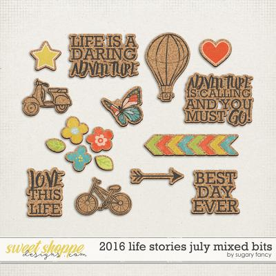 2016 Life Stories - July Mixed Bits by Sugary Fancy