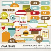 Life Captured November | Labels and Word Art by Digital Scrapbook Ingredients