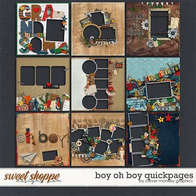 Boy oh Boy Quickpages by Clever Monkey Graphics