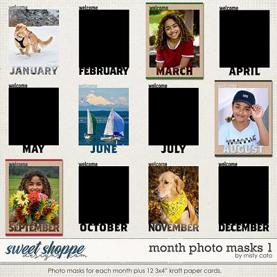 Month Photo Masks 1 by Misty Cato