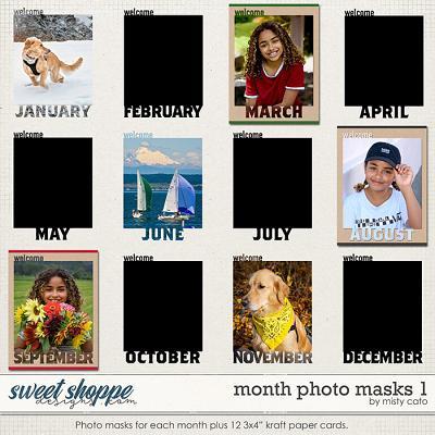 Month Photo Masks 1 by Misty Cato