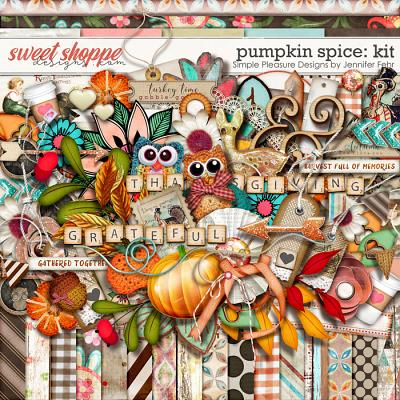 pumpkin spice kit: Simple Pleasure Designs by Jennifer Fehr