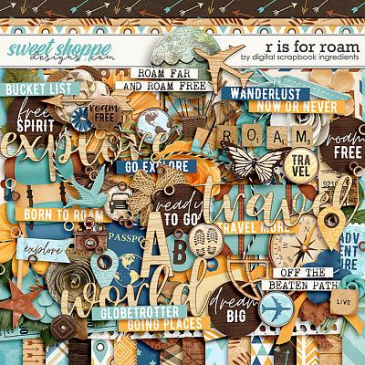 *FREE with your $10 Purchase* R is for Roam by Digital Scrapbook Ingredients
