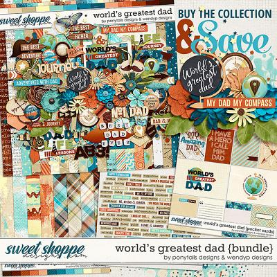 World's greatest dad - bundle by Ponytails Designs & WendyP Designs