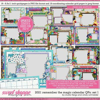2021 Remember the Magic Calendar Quickpages: Set 1 (Updated) by Cindy Schneider and Studio Flergs