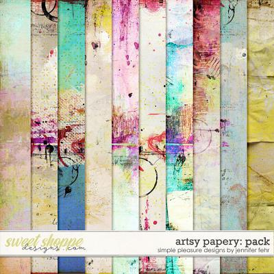 artsy papery pack: simple pleasure designs by jennifer fehr