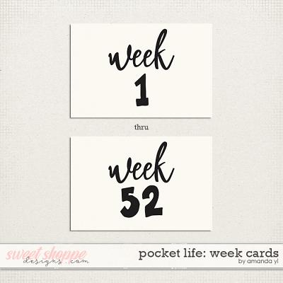 Pocket Life: Week Cards by Amanda Yi
