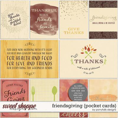 Friendsgiving Pocket Cards by Ponytails