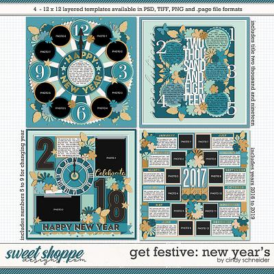 Cindy's Layered Templates - Get Festive: New Year's by Cindy Schneider