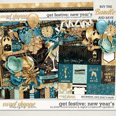 Get Festive: New Year's Bundle by Kristin Cronin-Barrow & Digital Scrapbook Ingredients