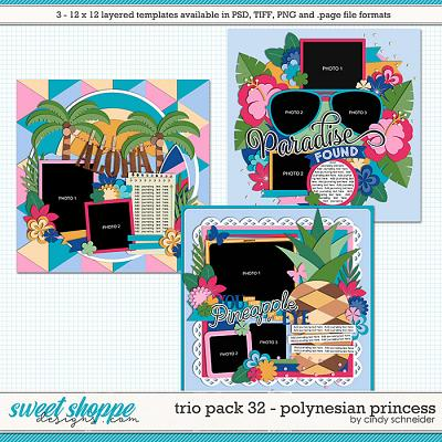 Cindy's Layered Templates - Trio Pack 32: Polynesian Princess by Cindy Schneider