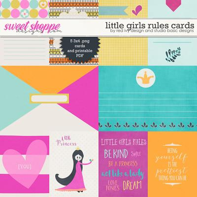 Little Girls Rules Cards by Red Ivy Design and Studio Basic Designs