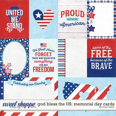 God Bless The US: Memorial Day Cards by Traci Reed