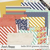Hello 2016 {Planner Dividers} by Digilicious Design