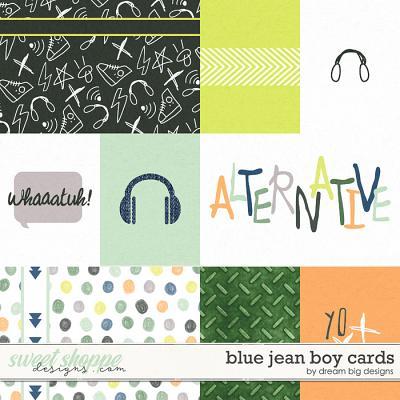 Blue Jean Boy Cards by Dream Big Designs