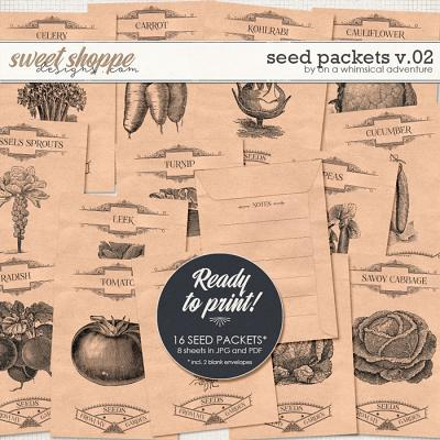 Seed Packets Vol02 Vegetables by On A Whimsical Adventure