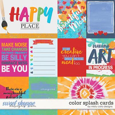 Color Splash Cards by Misty Cato