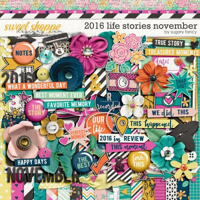 2016 Life Stories - November Kit by Sugary Fancy