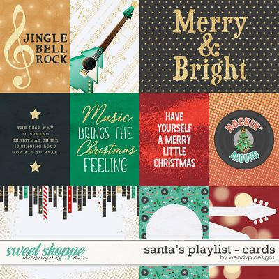 Santa's playlist - cards by WendyP Designs