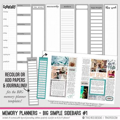 Memory Planners - BIG Simple Sidebars #1 by Traci Reed