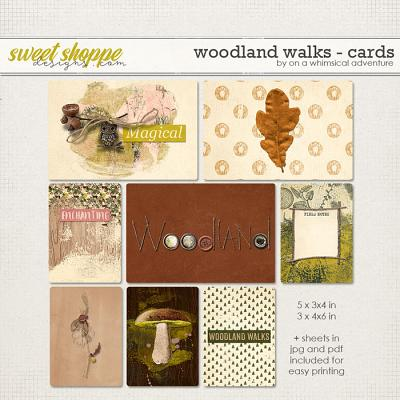Woodland Walks Journal Cards by On A Whimsical Adventure