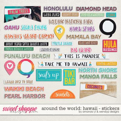 Around the world: Hawaii - stickers by Amanda Yi and WendyP Designs