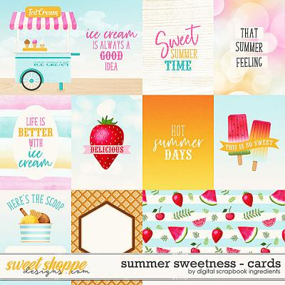 Summer Sweetness | Cards by Digital Scrapbook Ingredients