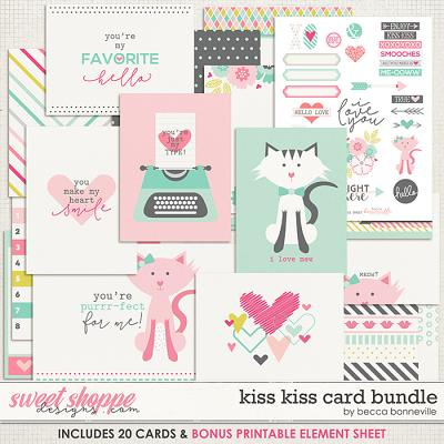 Kiss Kiss Card Bundle by Becca Bonneville