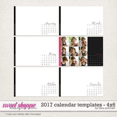 2017 Calendar Templates - 4x6 by Libby Pritchett