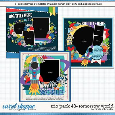 Cindy's Layered Templates - Trio Pack 43: Tomorrow World by Cindy Schneider