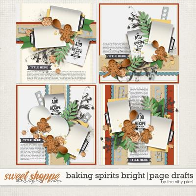 BAKING SPIRITS BRIGHT | PAGE DRAFTS by The Nifty Pixel
