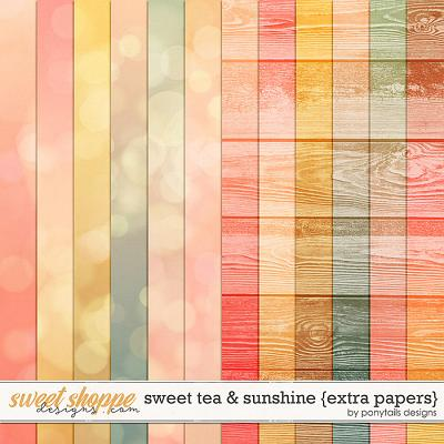 Sweet Tea & Sunshine Extra Papers by Ponytails