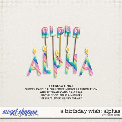 A Birthday Wish: ALPHAS by Studio Flergs