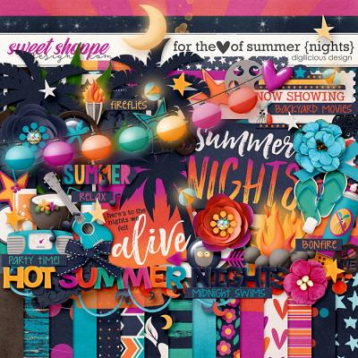 For the Love of Summer {Nights} Kit by Digilicious Design